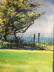 Coastal Hedgerow (Gouache)