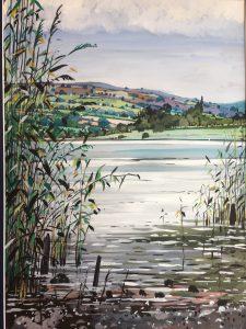 Llangorse Lake (Gouache)